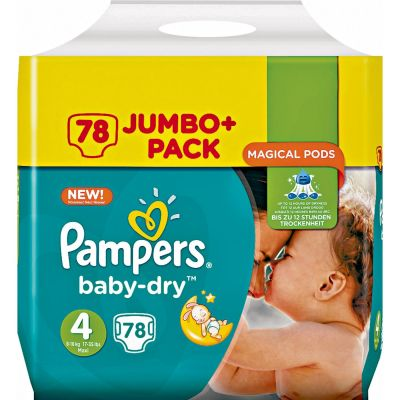 Pampers Couches Baby Dry Taille 4 - 78 Couches