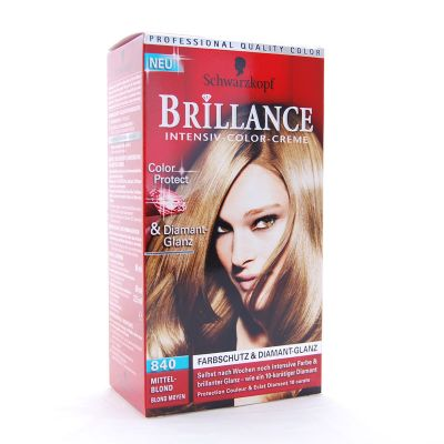 Brillance Coloration 840 Blond Moyen Color Protect & Diamant