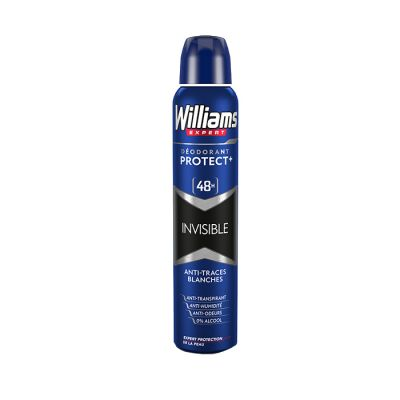 William déodorant spray 200ml protect+invisible