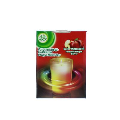 Air wick bougie led pommes rouges