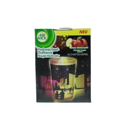 Air wick bougie led silhouette pommes rouges