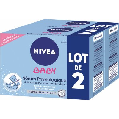 Nivea Baby Sérum Physiologique Lot de 2 X 24 Doses de 5 Ml