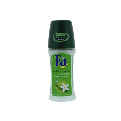 Fa déodorant roll on 50 ml natural & fresh jasmine
