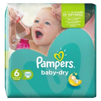 Pampers Couches Baby Dry Taille 6 - 33 Couches