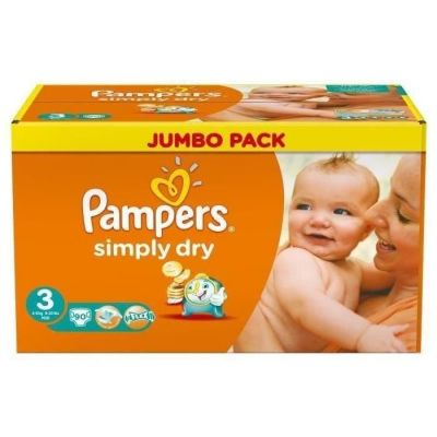 Pampers Couches Simply Dry Taille 3 - 90 Couches