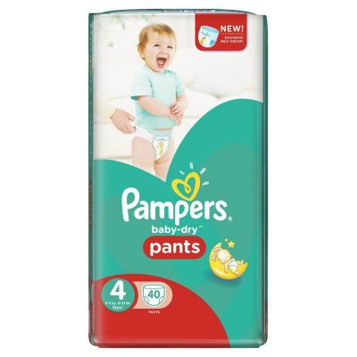 Pampers Couches Baby-Dry Pants Taille 4 - 40