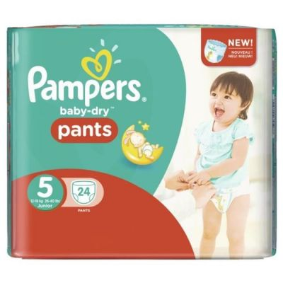 Pampers Couches Baby-Dry Pants Taille 5 - 24