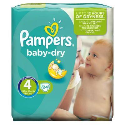 Pampers Baby Dry Taille 4 (7-18KG) 24 Couches