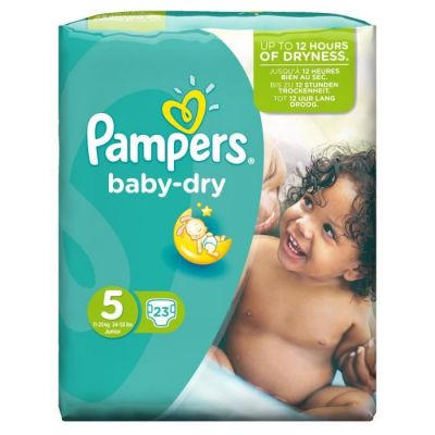 Pampers Baby Dry Taille 5 (11-25KG) 23 Couches