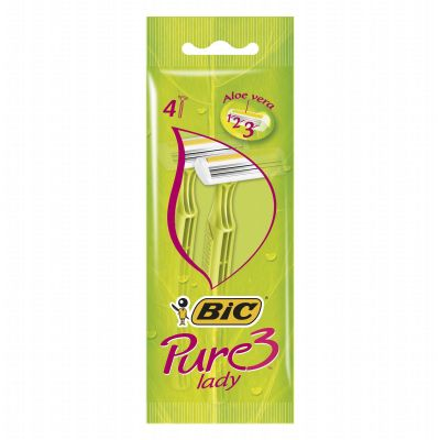 Bic rasoirs jetables x 4 pure 3 lady