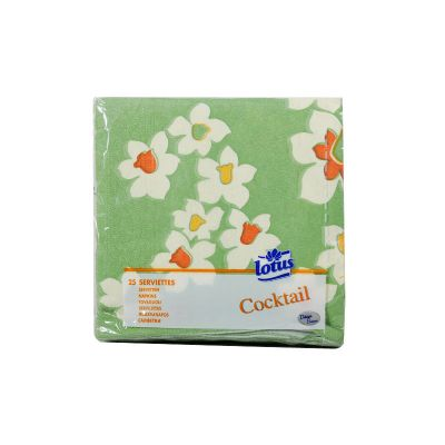 Lotus Cocktail Meadow Orange 25x25CM 25 Serviettes
