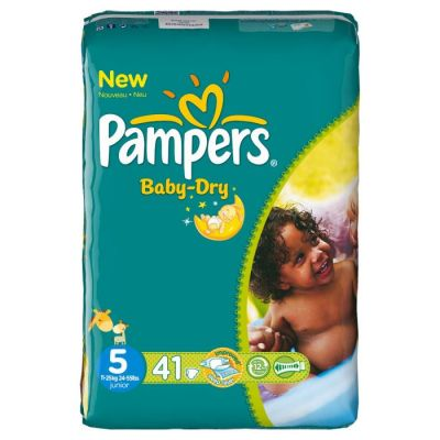 Pampers Baby Dry Taille 5 (11-25KG) 41 Couches