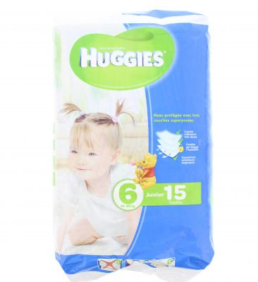 Huggies Couches Taille 6 Junior 16-30 Kg X 15