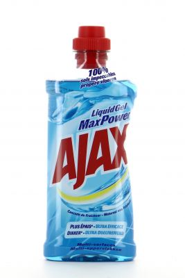 Ajax Nettoyant Multi-Surface Liquid Gel 750 Ml Max Power Cascade de Fraîcheur