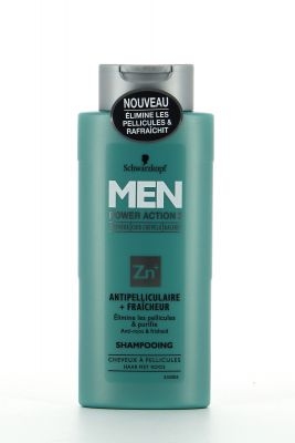 Schwarzkopf Men Shampooing 250 Ml Power Action 3 Antipelliculaire + Fraîcheur
