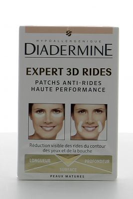 Diadermine Patch Anti-rides Expert 3D Rides Haute Performance X 12 Patchs