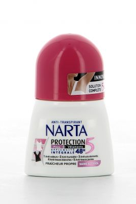 Narta Déodorant Roll On 50 Ml Protection 5 Fraîcheur Propre