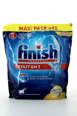 Finish Power Ball Tout En Un 45 Tabs Citron