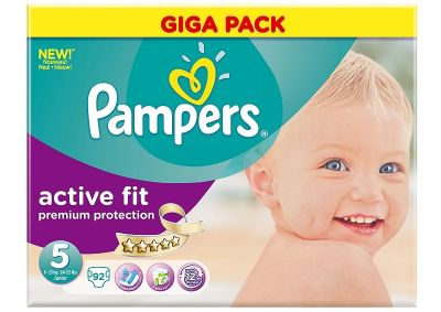 Pampers Couches Active Fit Taille 5 - 92 Couches