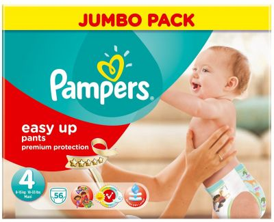 Pampers Couches Easy Up Pants Taille 4 - 56 Couches