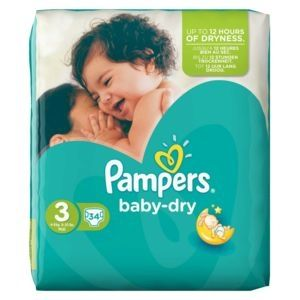 Pampers Couches Baby Dry Taille 3 - 34 Couches