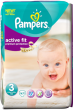 Pampers Couches Active Fit Taille 3 - 47 Couches